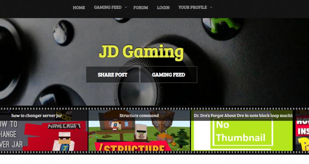 jdog website design gaming
