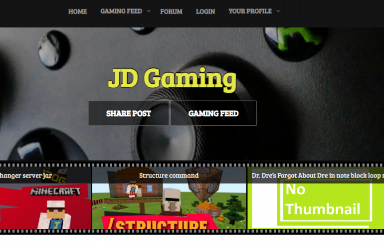 Jdog Gaming Website