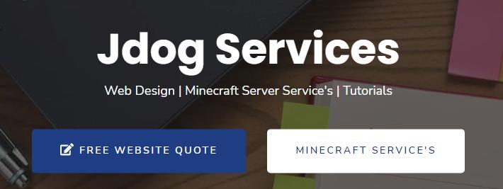 jdog website design