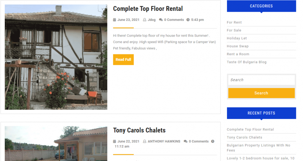 cheap website design for property listings