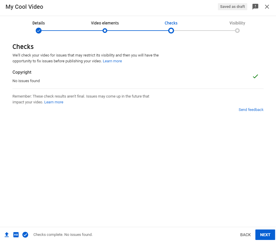 checks for unlisted YouTube Video