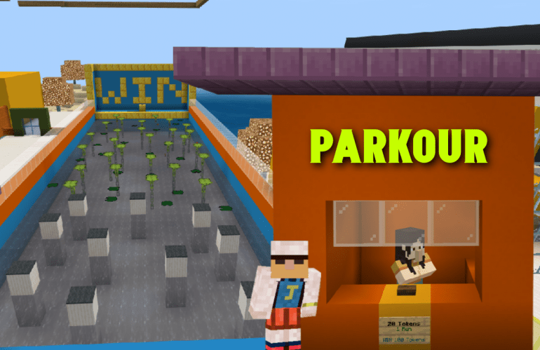 Complete Parkour Course with Command Blocks | Bedrock