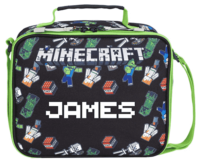 personalised Minecraft lunchbox